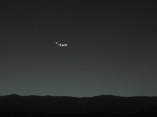 How Earth looks from Mars