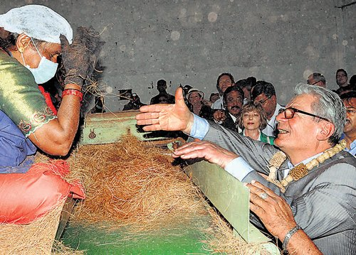 German President gets a taste of rural India