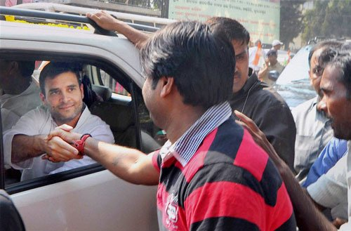 Rahul Gandhi attacks BJD, says funds not reaching people