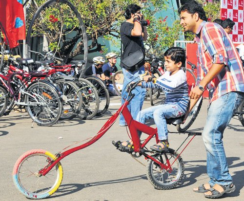 When young and old took the bicycle ride...