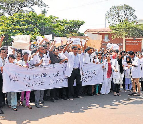 Doctors stage stir against assault