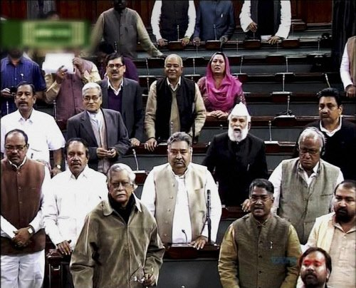 18 Andhra MPs suspended from LS