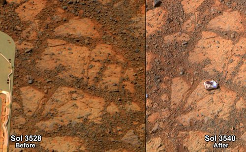 NASA solves mystery of 'jelly doughnut' rock on Mars