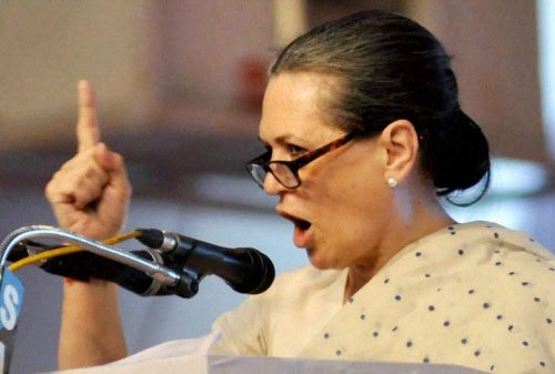 Sonia pits Cong's secular policy against BJP's divisive ideology