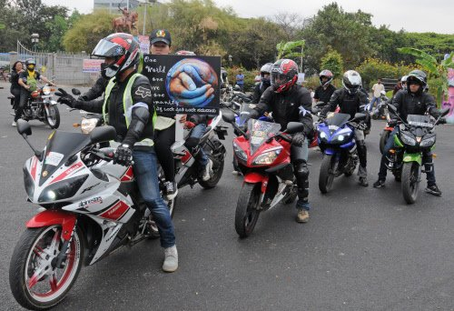 Bikers protest discrimination against northeast people