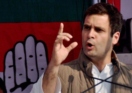 BJP practising politics of blood, says Rahul