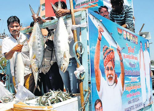 After tea, now NaMo fish stalls in TN