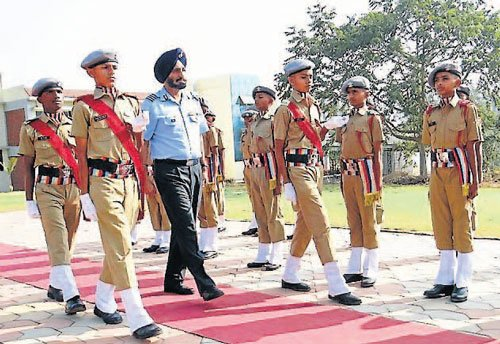 Inspecting Officer visits Sainik School