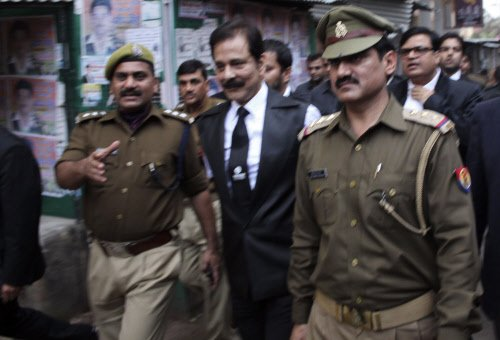 Sahara chief taken by road to Delhi for production before SC