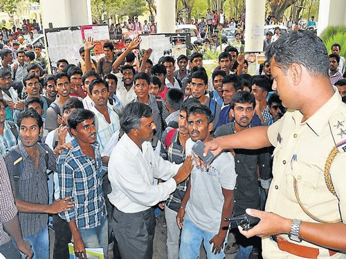 Students protest against new fee structure
