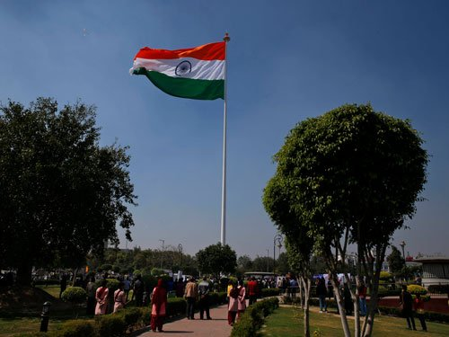 Largest Tricolour flutters on tallest flagpole in Delhi