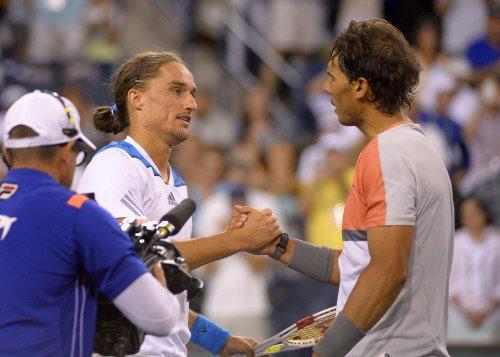 Dolgopolov sends Nadal packing