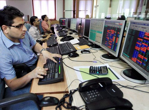 Sensex off record high level; investors await inflation Nos