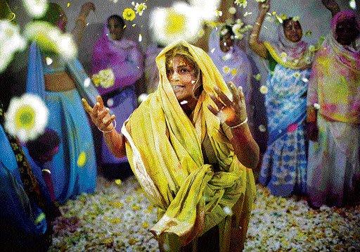 Vrindavan widows revel in colour