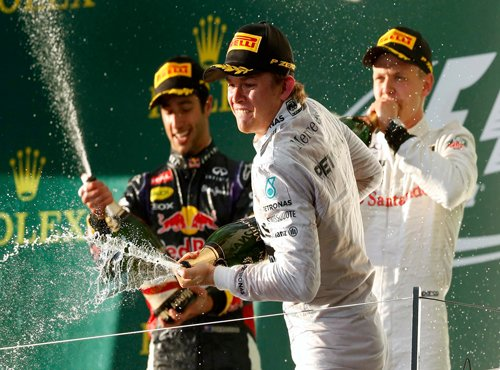 Rosberg sets the pace as newbies call the shots