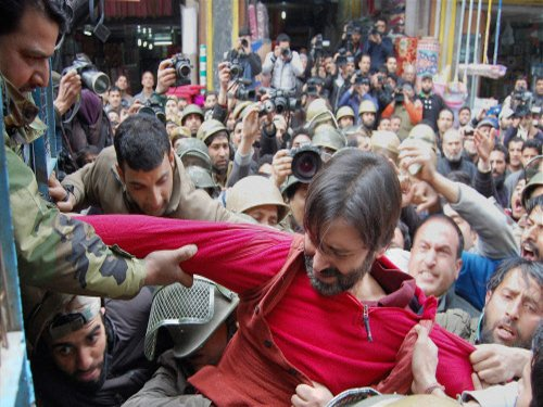 JKLF protest march in Srinagar against youth's killing