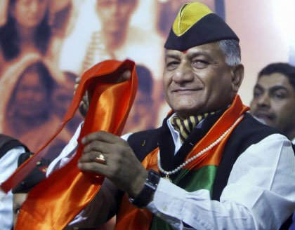 Ex-Army chief V K Singh will contest from Ghaziabad: BJP sources