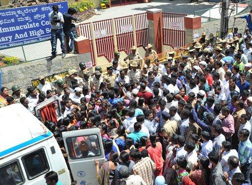 Parents, relatives protest against girls' suicide