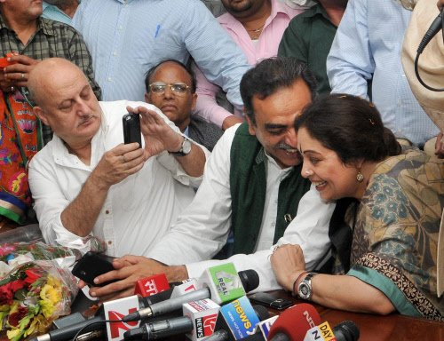 Protests didn't affect Kirron or me: Anupam Kher