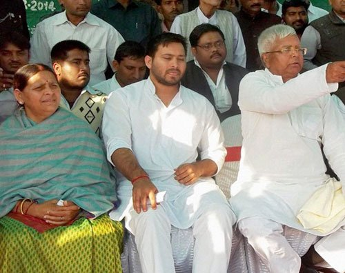 Lalu's wife, sons and daughter are star campaigners