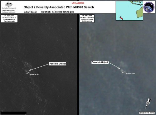 Analysis of possible plane debris slowed by vast size of satellite data