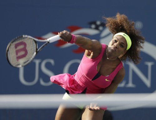 Serena survives first-set scare to win opener