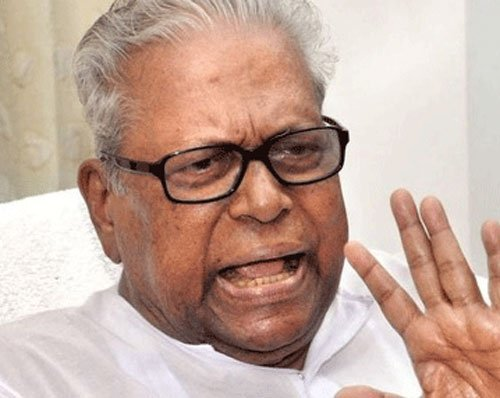 VS raises Sunanda's death in poll meeting