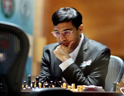 Anand notches easy draw
