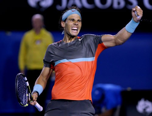 Nadal marches ahead, Serena sails through