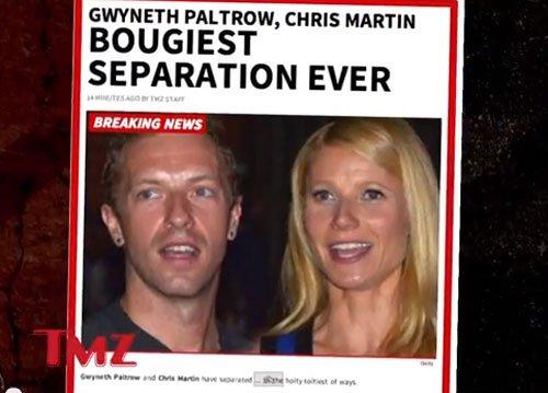 Gwyneth Paltrow, husband Chris Martin split