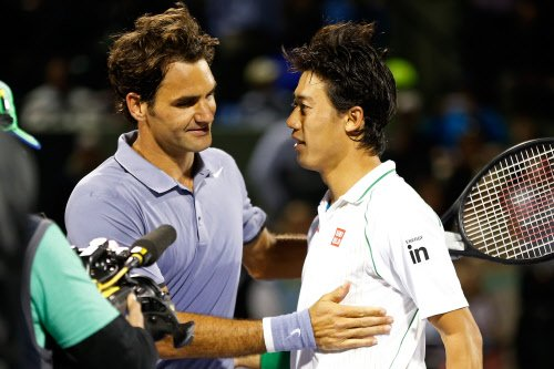Nishikori shock for Federer