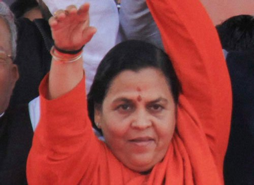 Uma says can't leave Jhansi, BJP does not shift her