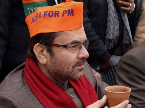New row in BJP: Naqvi angry at induction of Sabir Ali