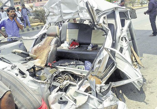 Car mows down 3 of a family