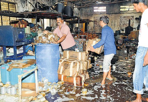 Fire guts chemical godown