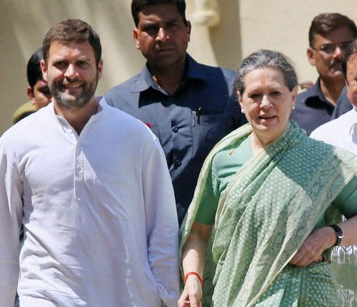 BJP charge sheets Sonia, Rahul for mess
