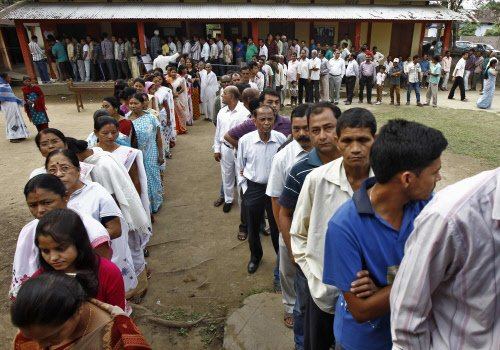 Assam records 12 percent polling in first two hours