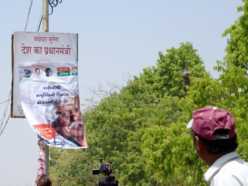 BJP removes Modi's posters in Vadodara