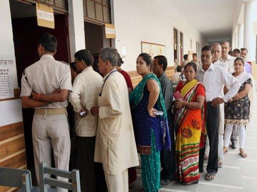 Brisk polling in Delhi, 40 per cent turnout till 1 PM