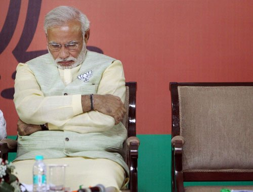 Modi hid facts about his marriage, says Cong