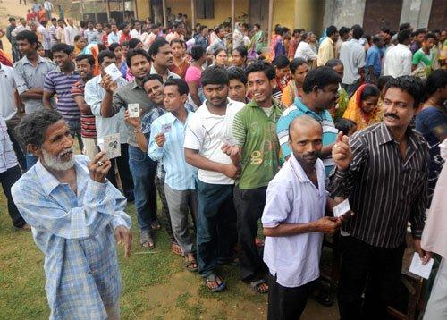 Over 55 per cent polling in Tripura