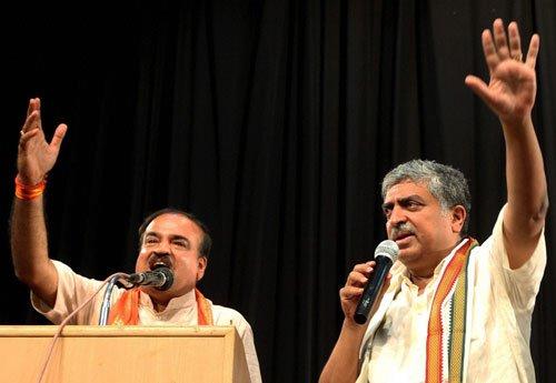 Nilekani, Ananth in tight race