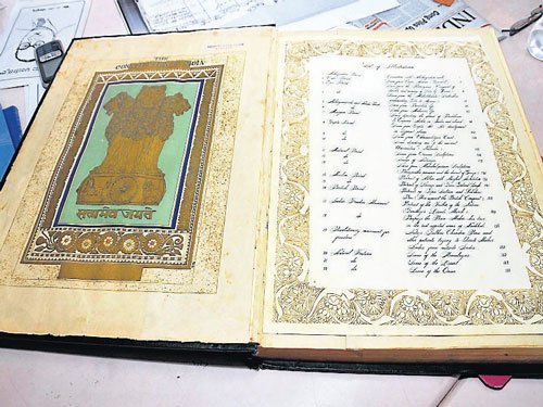 Original copy of Indian Constitution to be on display