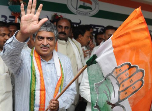 Nilekani flayed for his 'change of stand'