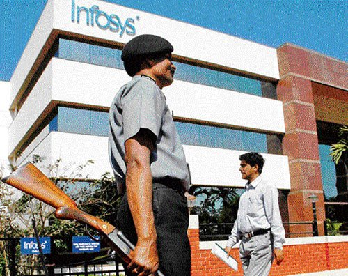 Infosys reports 25% jump in profit, but volumes lag