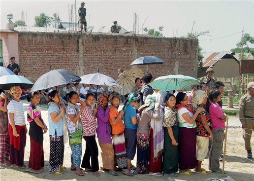 62 per cent polling in Manipur till 2 PM