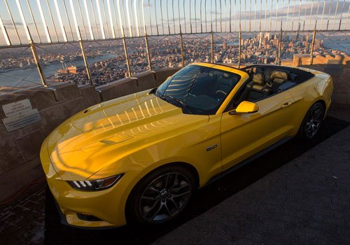 Ford Mustang turns 50 atop Empire State Building