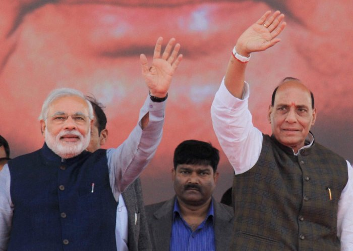 Only Modi will be PM if NDA forms government says Rajnath