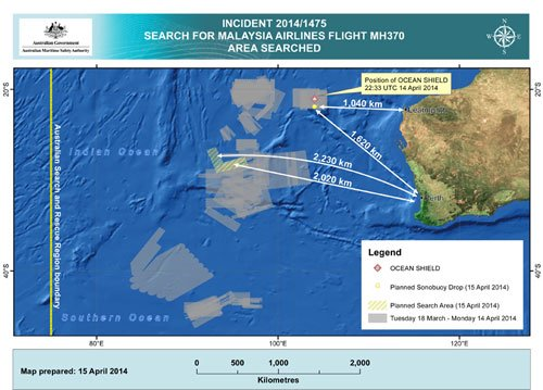 Robotic submarine launches 5th mission to locate missing plane