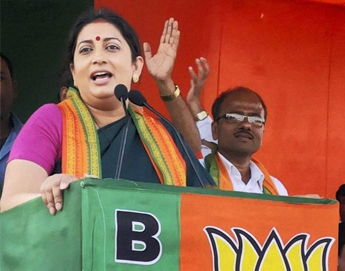Once a critic, Irani hardsells Modi image to woo voters